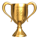 PlayStation gold trophy
